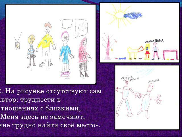 2. На рисунке отсутствуют сам автор: трудности в отношениях с близкими, «Меня...
