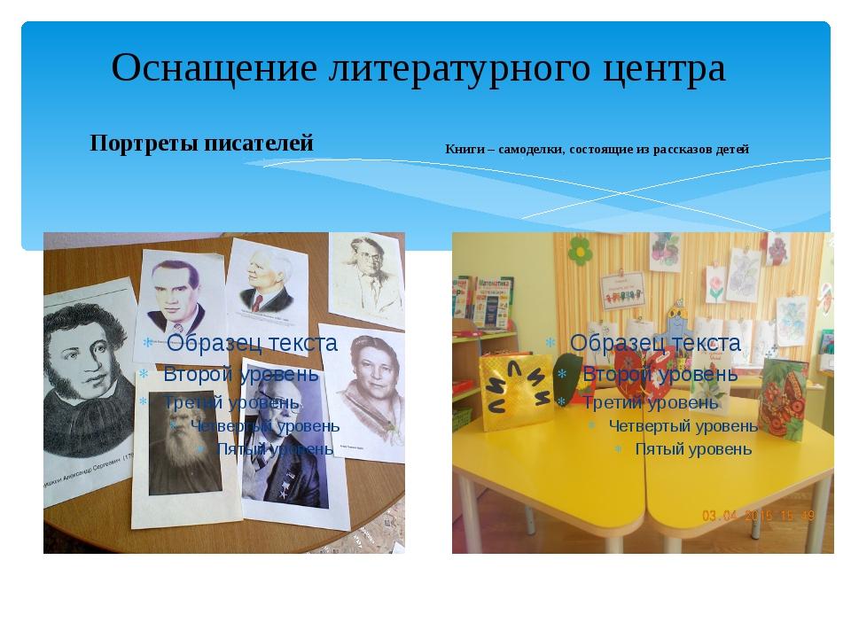 Портреты писателей Книги – самоделки, состоящие из рассказов детей Оснащение...