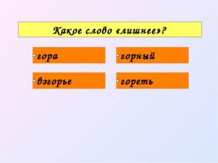 Какое слово «лишнее»?