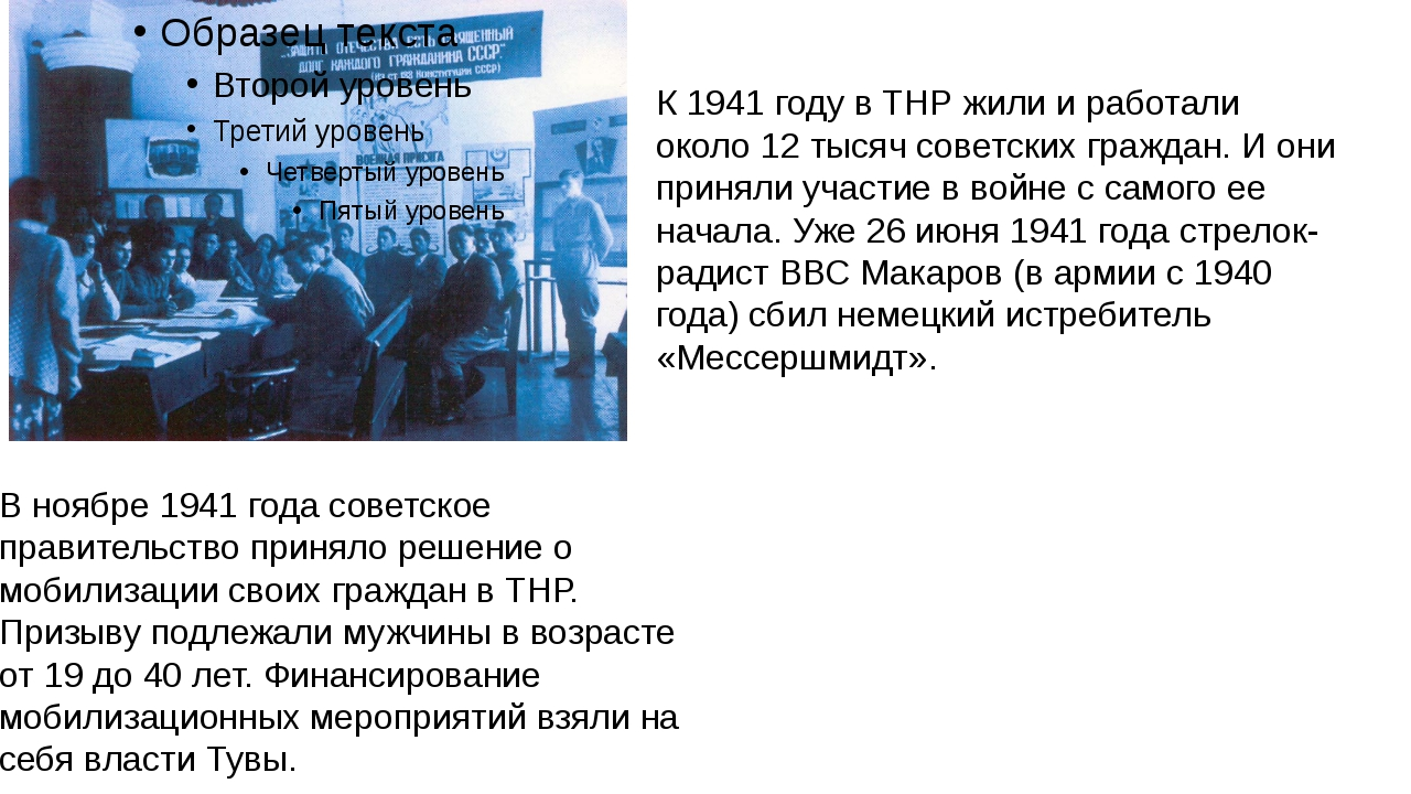 В ноябре 1941 года советское правительство приняло решение о мобилизации свои...