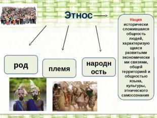 Этнос род племя народность Нация исторически сложившаяся общность людей, хара