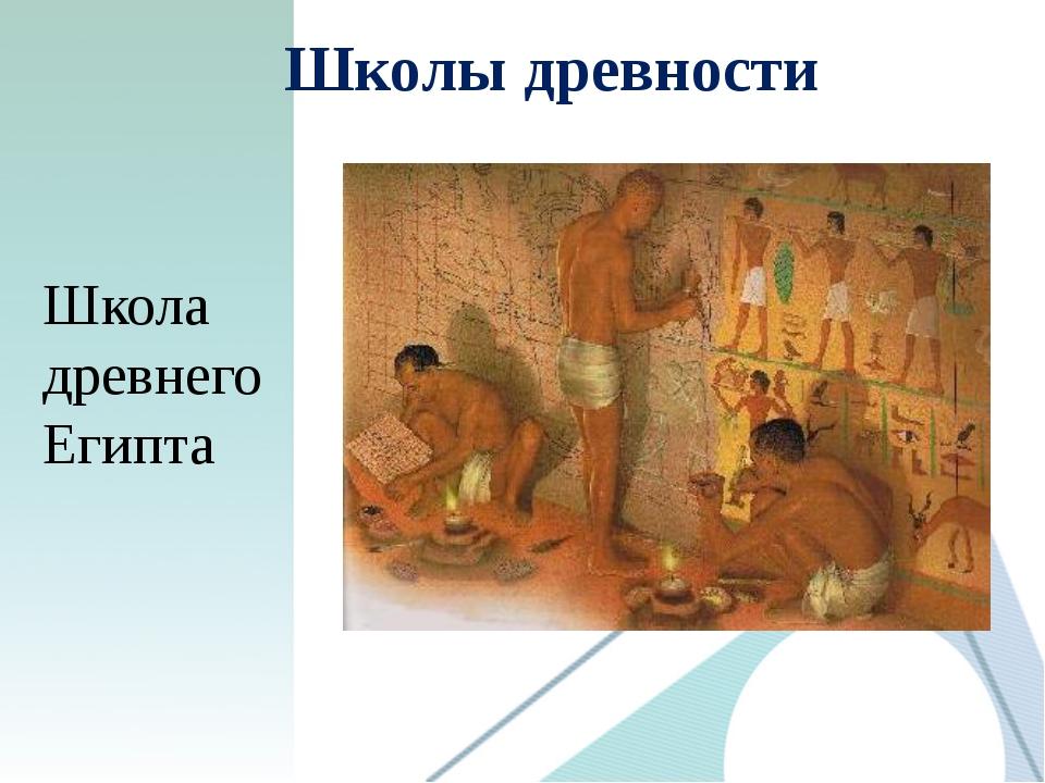 Школы древности Школа древнего Египта