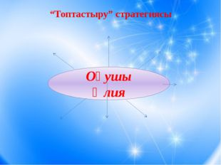 """""""Топтастыру"""" стратегиясы Оқушы Әлия"""