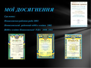 Грамоти: Новоазовська районна рада 2003 Новоазовський районний відділ освіти