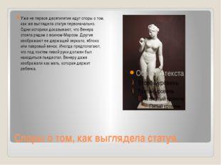Споры о том, как выглядела статуя. Уже не первое десятилетие идут споры о том