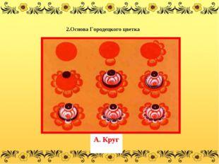 А. Круг 2.Основа Городецкого цветка