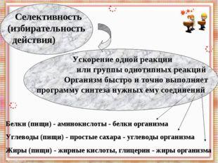 Белки (пищи) - аминокислоты - белки организма Углеводы (пищи) - простые сахар
