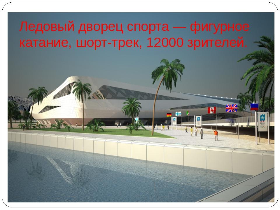 Ледовый дворец спорта— фигурное катание, шорт-трек, 12000 зрителей.