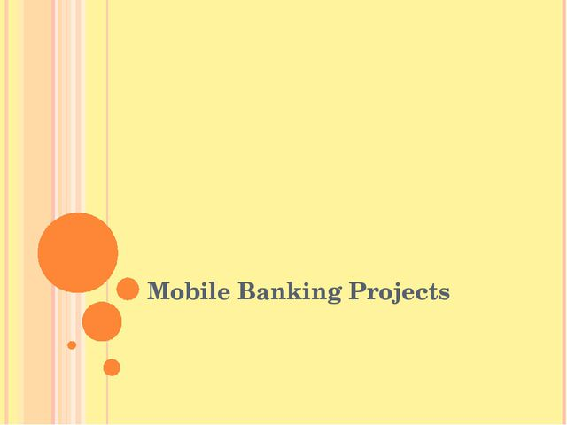 Mobile Banking Projects