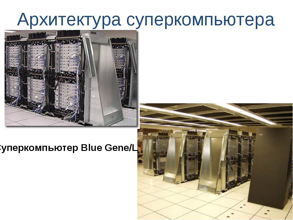 Архитектура суперкомпьютера Суперкомпьютер Blue Gene/L