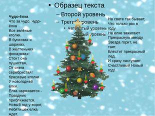 Это означает , что скоро наступит Новый год! Чудо-ёлка Что за чудо, чудо-ёлк