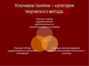 Ключевое понятие – категория творческого метода.