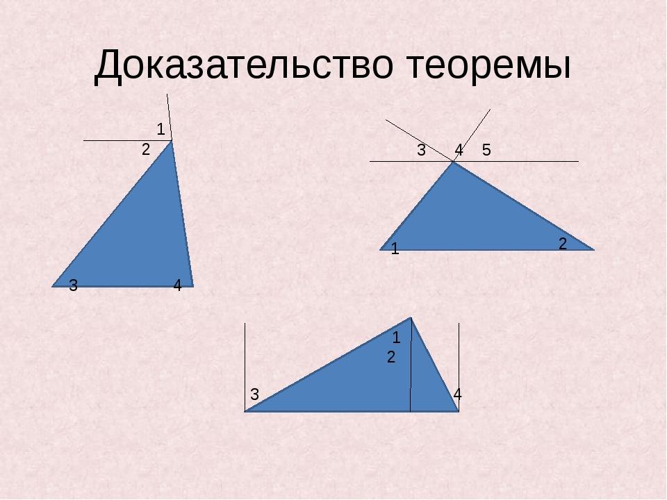 Доказательство теоремы 1 2 3 4 5 3 4 1 2 1 2 3 4