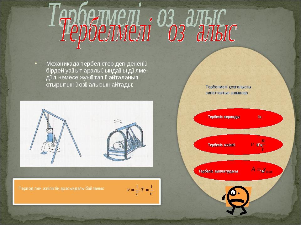 Механикада тербелістер деп дененің бірдей уақыт аралығындағы дәлме-дәл немесе...