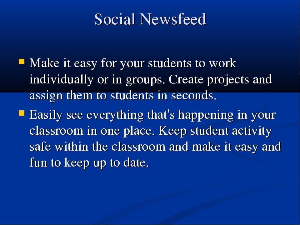 Social Newsfeed Make it easy for your students to work individually or in gro...