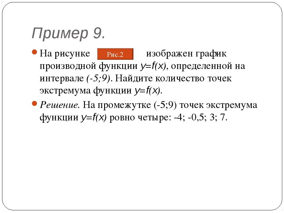 Пример 9. На рисунке изображен график производной функции y=f(x), определенно...