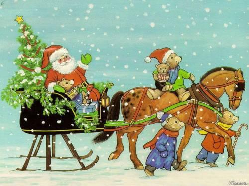 Дед Мороз спешит к детишкам