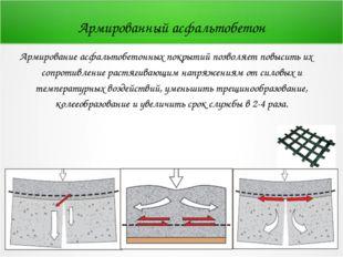 Армированный асфальтобетон Армирование асфальтобетонных покрытий позволяет по