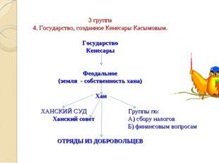 3 группа 4. Государство, созданное Кенесары Касымовым.  Государство Кенесар