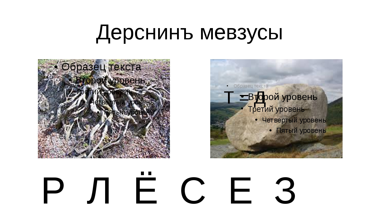 Дерснинъ мевзусы Т = Д Р Л Ё С Е З