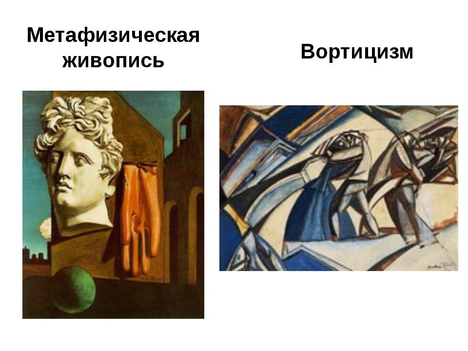 Метафизическая живопись Вортицизм