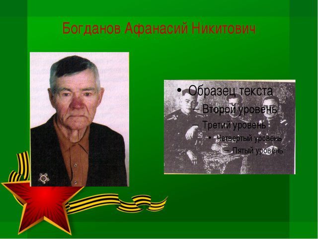 Богданов Афанасий Никитович