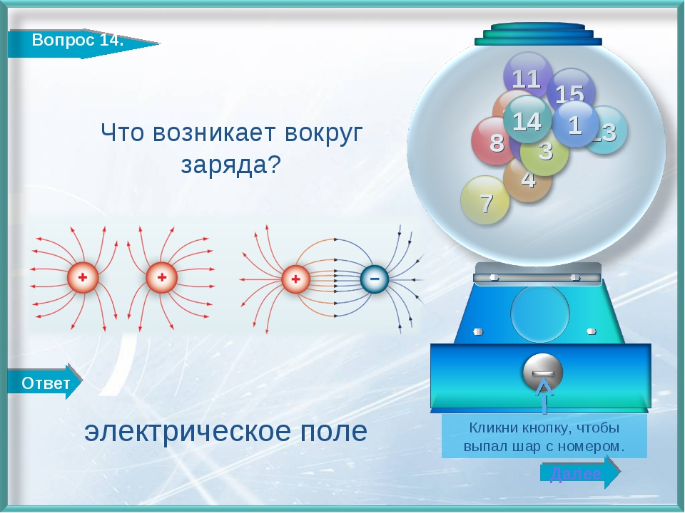 Ответ Далее Кликни кнопку, чтобы выпал шар с номером. Что возникает вокруг за...