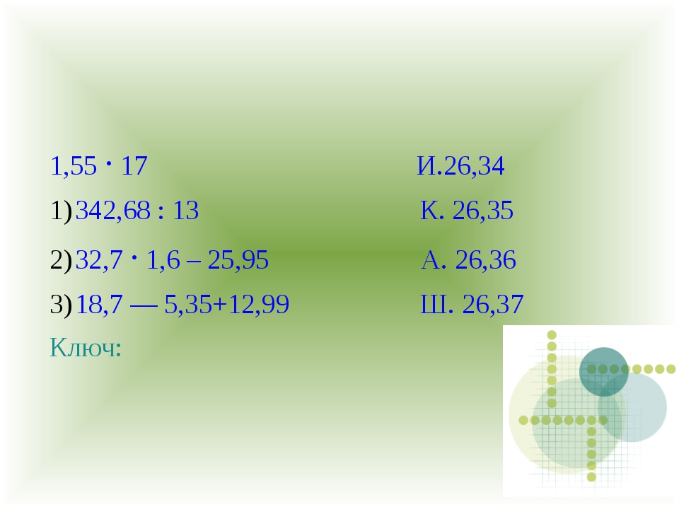 1,55 · 17 И.26,34 342,68 : 13 К. 26,35 32,7 · 1,6 – 25,95 А. 26,36 18,7 — 5,3...
