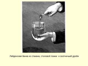 Лейденская банка из стакана, столовой ложки и охотничьей дроби