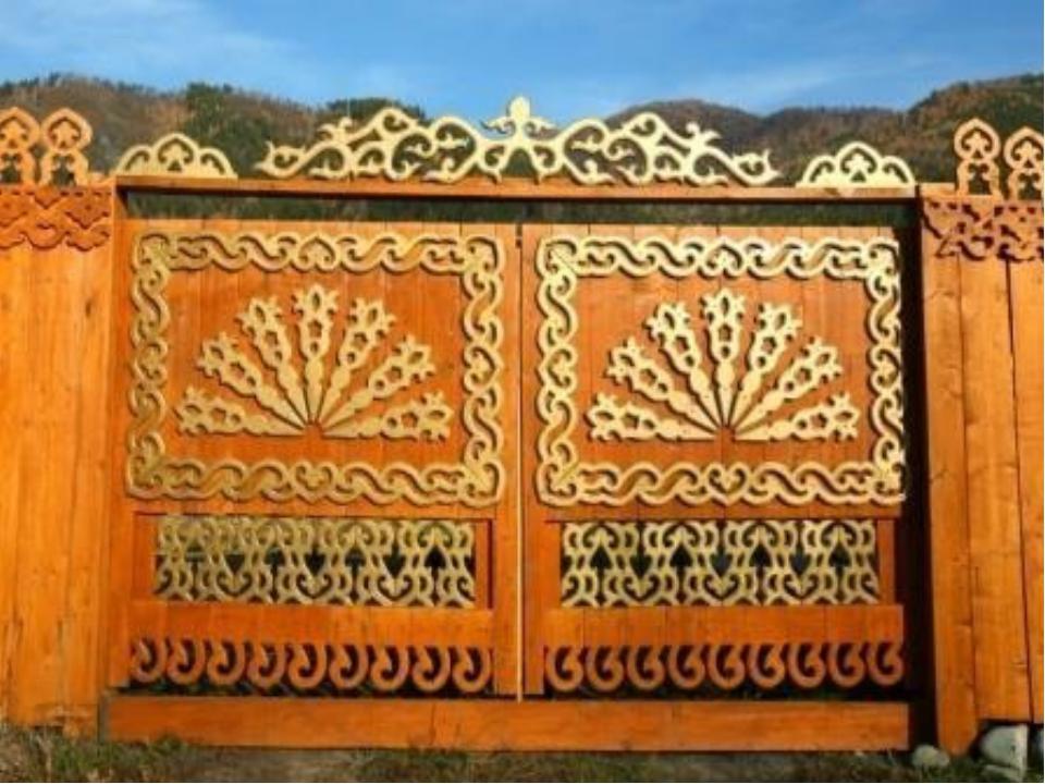 Ворота резные своими руками деревянные