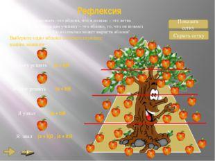 Рефлексия То, что я хочу познать -это яблоня, что я познаю – это ветвь яблони