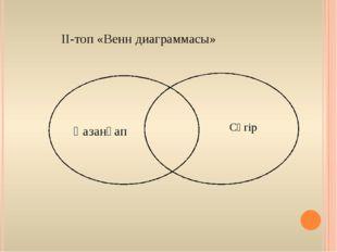 ІІ-топ «Венн диаграммасы» Қазанғап Сүгір