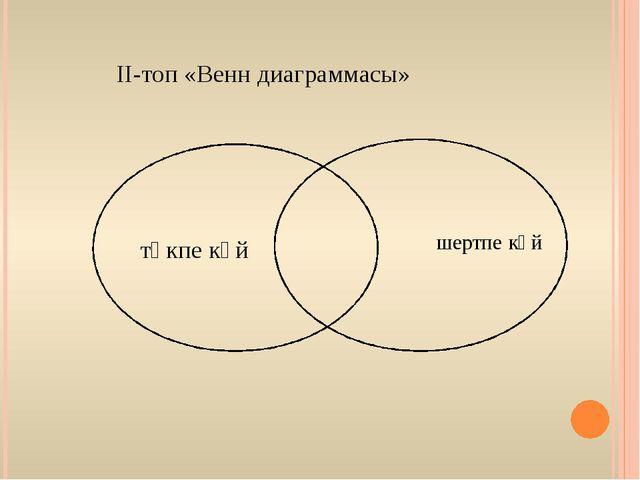 ІІ-топ «Венн диаграммасы» төкпе күй шертпе күй
