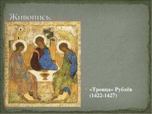 «Троица» Рублёв (1422-1427)