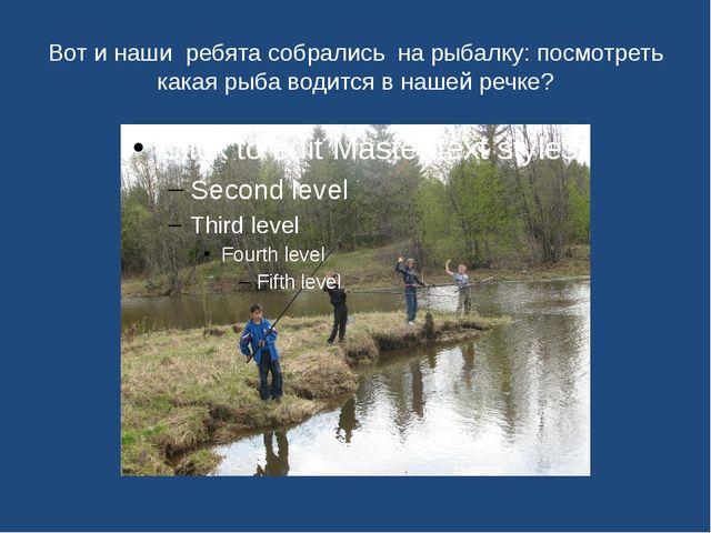 Вот и наши ребята собрались на рыбалку: посмотреть какая рыба водится в нашей...
