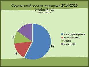 Социальный состав учащихся 2014-2015 учебный год ГРУППА РИСКА FokinaLida.75@m