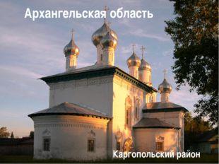 Архангельская область Каргопольский район