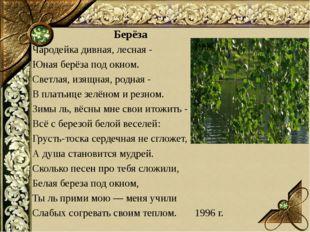 Берёза Чародейка дивная, лесная - Юная берёза под окном. Светлая, изящная, ро
