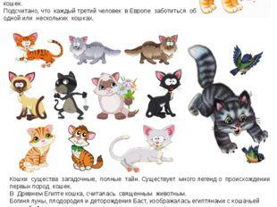 Кошки существа загадочные, полные тайн. Существует много легенд о происхожден