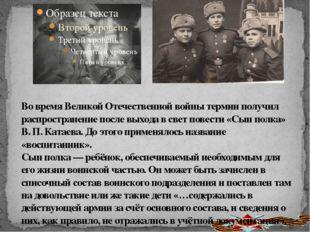 Во время Великой Отечественной войны термин получил распространение после вых