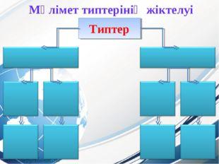 Типтер Мәлімет типтерінің жіктелуі