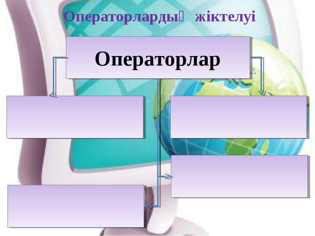 Операторлар Операторлардың жіктелуі