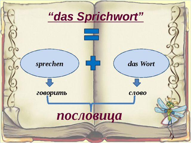 """das Sprichwort"" sprechen das Wort говорить слово пословица"