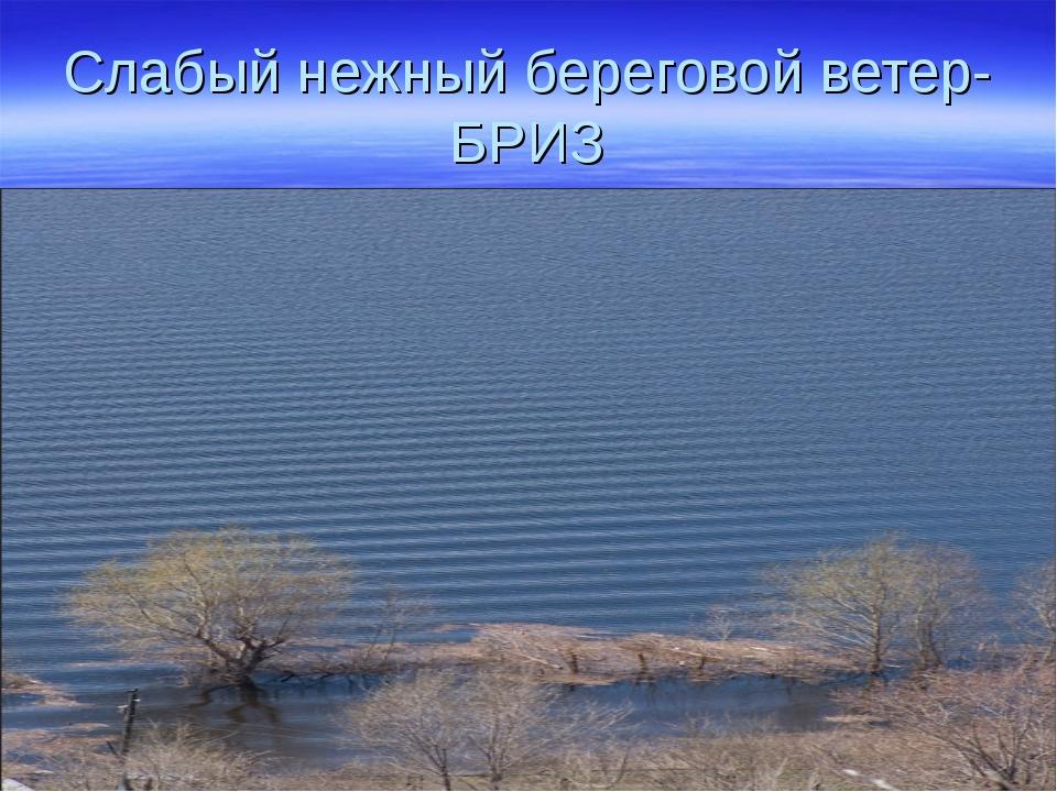Слабый нежный береговой ветер-БРИЗ