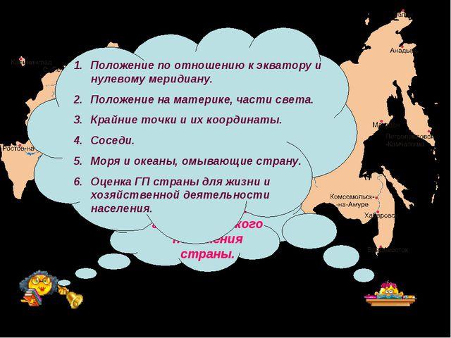 Вспомните план характеристики географического положения страны. Положение по...