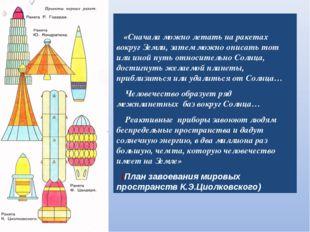 «Сначала можно летать на ракетах вокруг Земли, затем можно описать тот или и