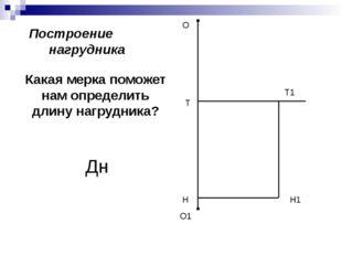 Построение нагрудника О О1 Н Т1 Н1 Т Какая мерка поможет нам определить длину