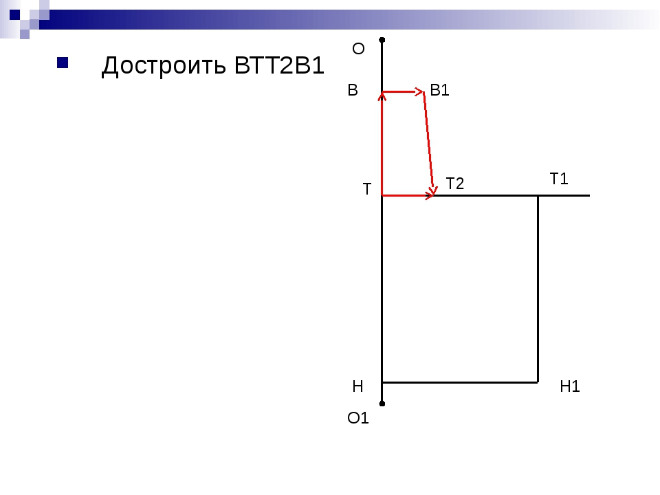 Достроить ВТТ2В1 О О1 Н Т1 Н1 В Т2 В1 Т