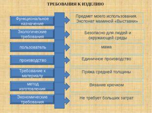 ТРЕБОВАНИЯ К ИЗДЕЛИЮ Функциональное назначение Зкологические требования Эконо