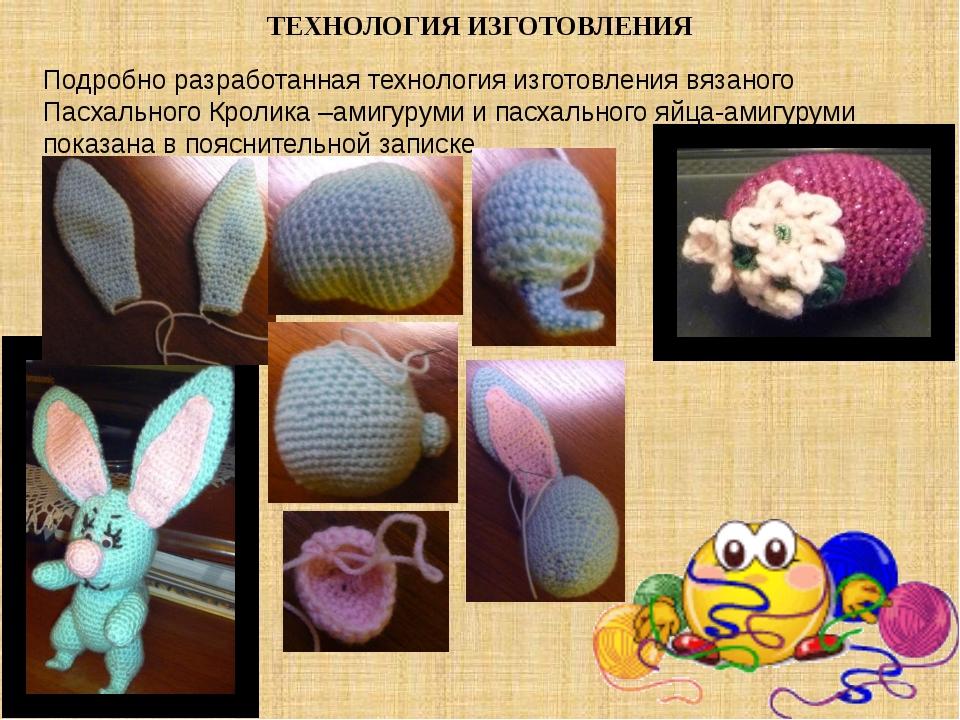 ТЕХНОЛОГИЯ ИЗГОТОВЛЕНИЯ Подробно разработанная технология изготовления вязано...